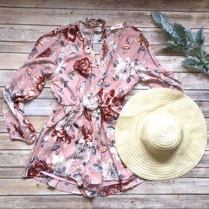 PLC Floral Romper in Blush